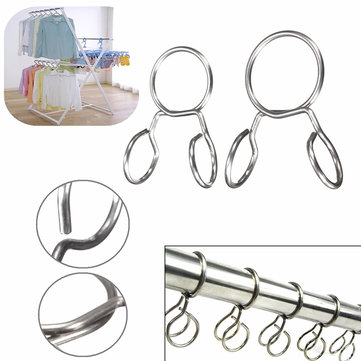 Stainless Steel Home Balcony Clothes Hook Wind Proof Towel Cap Coat Shoes Hanger