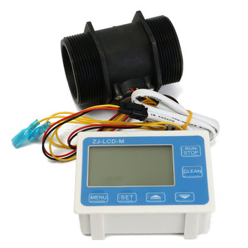 ZJ-LCD-M LCD Digital Display Water Flow Sensor Meter Quantitative Flow Meter