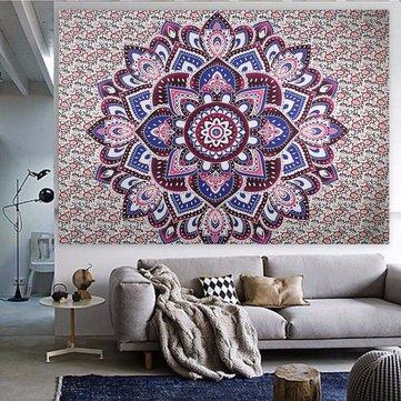 Indian Decor Mandala Beach Towel Tapestry Wall Hanging Hippie Bohemian Dorm Bedspread