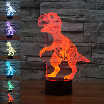 Dinosaur USB Battery 3D LED Lights Colorful Touch Control Night Light Home Decor Gift