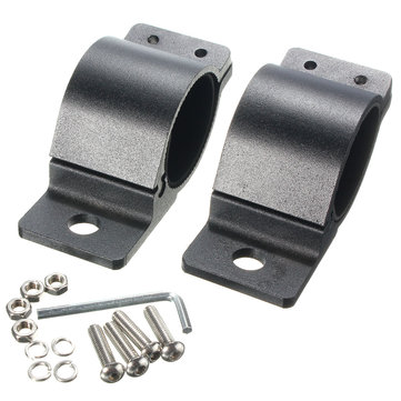 2pcs 2 Inch Light Bar Brackets LED Clamp For Roof Roll Cage Bar Tube Mounting Bracket Clamps