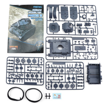 Meng WWT002 German Third Medium Tank M4A1 DIY Assembling Building Kits Model For Kids Gift Toys