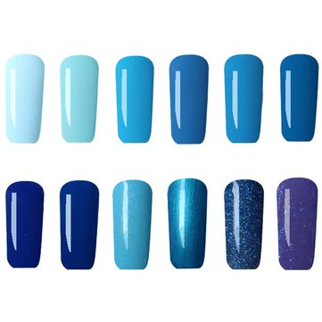 12 สี Nano UV Gel Polish ระบบสีฟ้า Dreamlike Soap-off Nail Charming