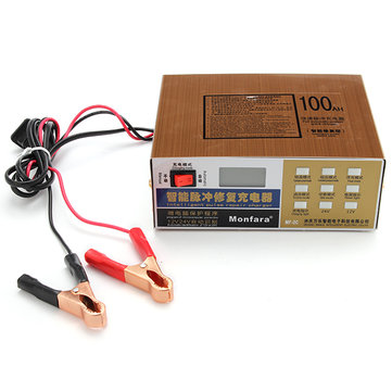 12V 24V 6AH-200AH Motorcycle Car Truck Digital Battery Charger With Pure Copper Pulse Repair
