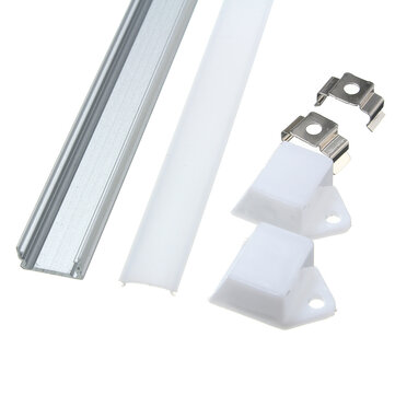 50CM XH-008 U-Style Aluminum Channel Holder For LED Strip Light Bar Under Cabinet Lamp Lighting