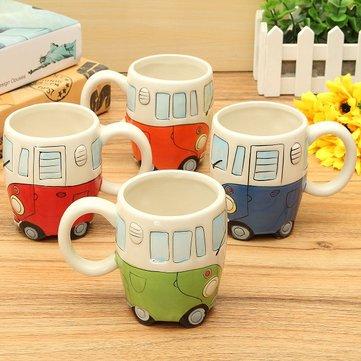 Creative Ceramic Coffee Cup Lovely Camper Van Retro Bus Mug