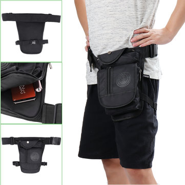 Outdoor Canvas Tactical Men's Leg Bag Waterproof Cycling Climbing Hiking Waist Bag