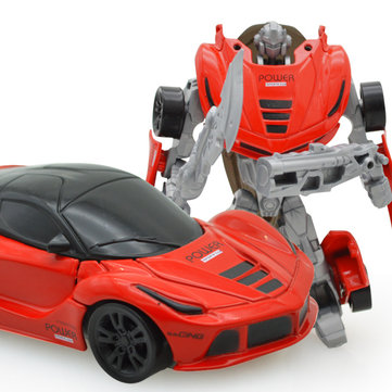 Mini Deformation Robot Cars Vehicles Deformed Action Figure Truck Model Toys For Kids Children Gift