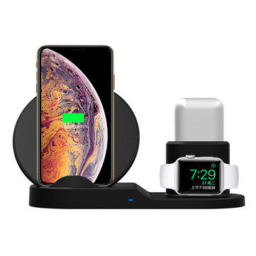 3 In 1 Qi Wireless Charger Phone Charger/Watch Charger/Earphone Charger For Smart Phone/iPhone/Apple Watch Series/Apple AirPods
