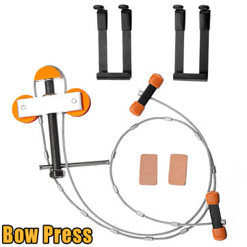Hand Held Portable Bow Press And Brackets For Compound Bow Hunting Archery