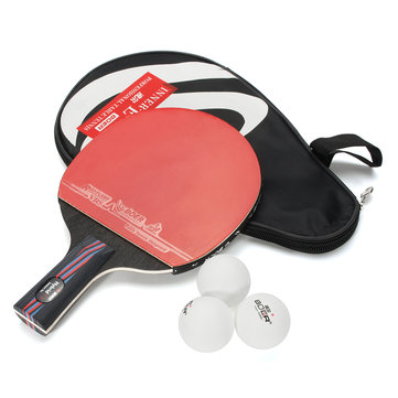 Table Tennis Racket Ping Pong Paddle Short Handle Shake-Hand Indoor Table Tennis
