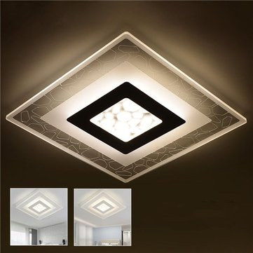 28W Modern Simple Square Acrylic LED Ceiling Lights Living Room Bedroom Home Lamp AC220V