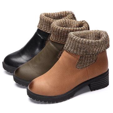 Несколько способов скольжения круглый носок на случайные лодыжки короткие сапоги для женщин