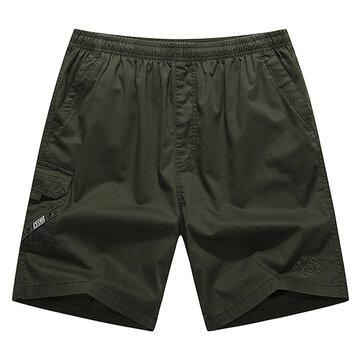 กางเกงขายาวกลางฝ้ายสำหรับวัยกลางคนPlusกางเกงเดินเตาะแตะชายหาดลำลอง