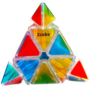 Cone Original Magic Speed Cube Professional Puzzle Education Toys For Children Clear