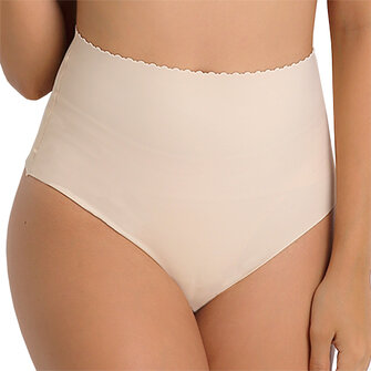 Soft Slim Ultra Elastic Waist Control Briefs High Waist Abdomen Shaping Thong Panties