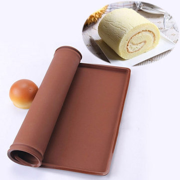 Silicone Swiss Roll Roll Mat Fiber Glass Non-stick Baking Cake Food Pad
