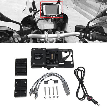USB Charger Mobile Phone Holder GPS Navigation Bracket For BMW R1200GS ADV S1000R S1000XR R1200R F700 800GS/Honda CRF1000 Motorcycle
