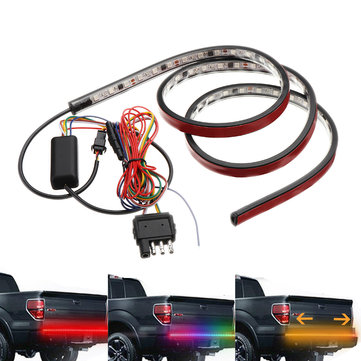 48 inch 12V 72SMD 5050 RGB LED Light Strip Red Brake Strobe Turn Lamp Flashing Magic Color
