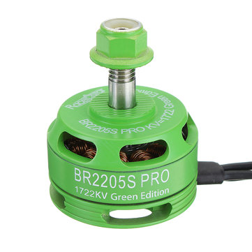 Racerstar 2205 BR2205S PRO Green Edition 1722KV Brushless Motor 4-6S For FPV Racing RC Drone