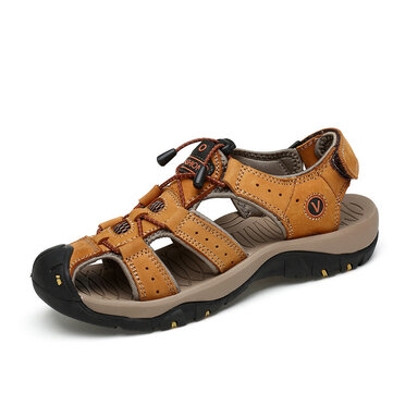Men Toe Protection Soft Sole Beach Outdoor Sandals