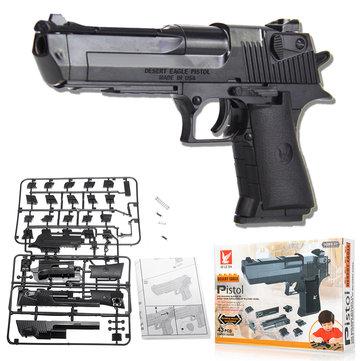 43pcs Desert Eagle Building Blocks Toys Children DIY Puzzle Shooting Gun CS Games Toys