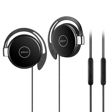 PICUN L1 Earhook Soft Cushion Stereo On-ear Wired Earphone With Mic Sport Heavy Bass HiFi