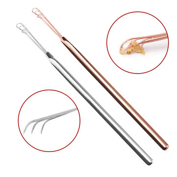 Y.F.M® Stainless Steel Silver Clear Earwax Ear Spoon Tool