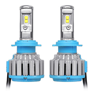 2PCS AKAS T1/T3 70W 5600LM LED Car Headlights Bulbs H1 H3 H4 H7 H11 9005 9006 6000K White
