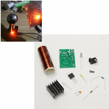 DC 12V Mini DIY Tesla Coil Kit Arc Wireless Electric Power Transmission Lighting