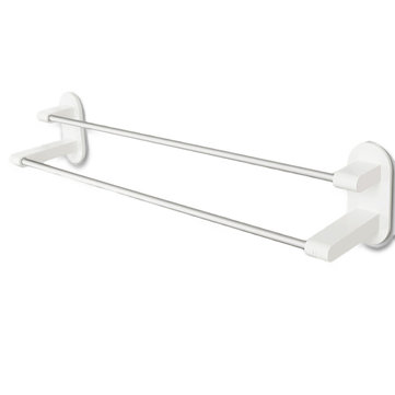 XIAOMI 8H Towel Rack Holder WHITE 3M Tape Double Rod Storage