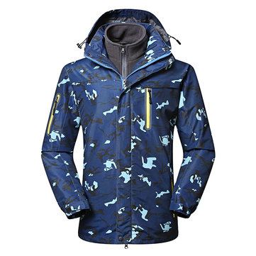 Men's Outdoor Detachable Hooded Waterproof Windproof Jacket