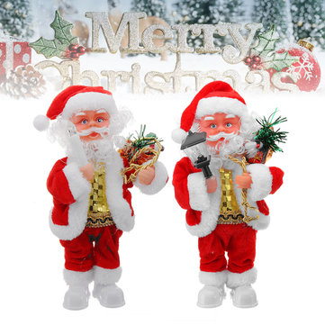 Electric Santa Claus Doll Christmas Singing Lighting Toys Christmas Gift Home Decorations