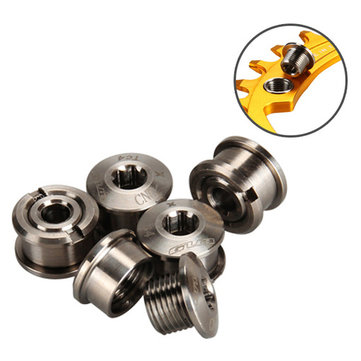 GUB 5pcs M8*6 Titanium Bike Chainwheel Disc Bolts for SHIMA-N0 MTB Road Bicycle