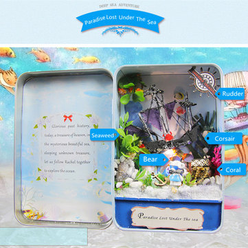 Hoomeda E005 Paradise Lost Under The Sea DIY Dollhouse Kit Box Theater Collection Gift