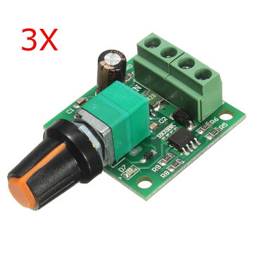 3Pcs Low Voltage DC 1.8V 3V 5V 6V 12V 2A Motor Speed Controller PWM 1803B