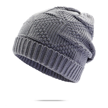 Men Women Knitted Warm Skullies Beanie Hat