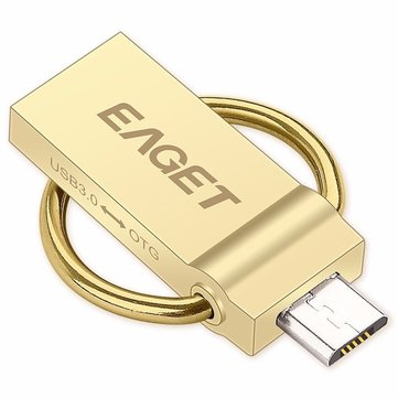EAGET V90 USB 3.0 and Micro USB OTG Interface USB Flash Drive for Smartphone Computer Laptop