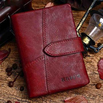 Genuine Leather Vintage Small Short Wallet Card Holder