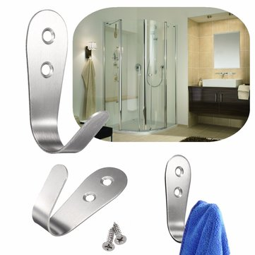 Stainless Steel Holder Hook Hanger Towel Rack for Home Kitchen Bathroom Wall Door