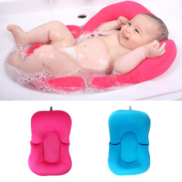 Infant Newborn Baby Bath Tub Pillow Pad Lounger Air Cushion Floating Soft Seat Bathtub Support