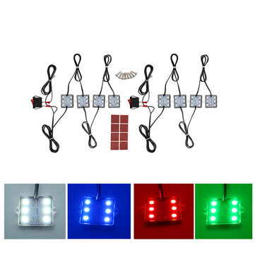 8pc 12V 5050 6000K SMD 48LED Waterproof Truck Bed Light Kit For Chevy Dodge GMC Pickup
