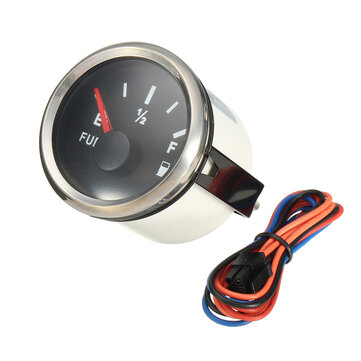 Marine Boat Fuel Level Gauge Yacht Trim Tank Indicator 52mm 12/24V 240-33 Ohms