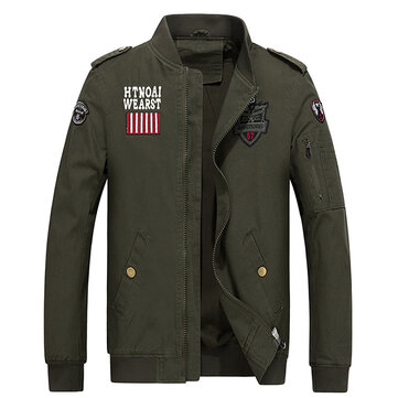 Epaulet Badge Embroidery Fashion Military Flight Jacket for Men