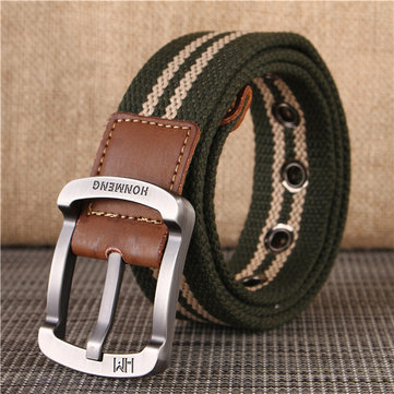Men's Buckle Canvas Woven Belt Sport Jeans Waistband
