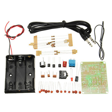 10Pcs FM Transmitter Kit RF-02 Wireless Microphone Parts MP3 Repeater Micro Transmitter With Antenna Battery Holder