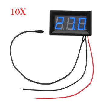 10pcs Blue DC 5V To 12V -50°C To -110°C Digital Thermometer Monitor Multipurpose Thermometer