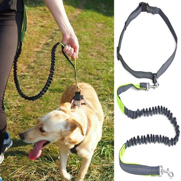 Hands Free Leash Dog Lead With Waist Belt For Jogging Walking Running Adjustable