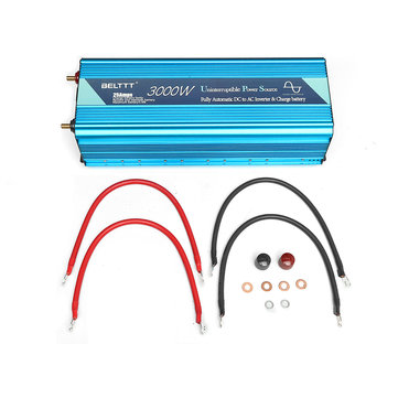 DC 12V 24V to AC 110V UPS 3000W Peak 6000W Pure Sine Wave Power Inverter and Charger