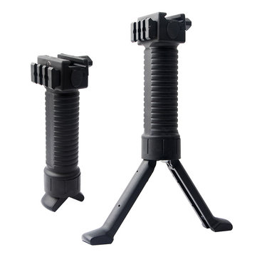 KALOAD Y14 Retractable Tactical Handgun Grip Bipod For AR15/M16 Carbine With Flexible Tripod